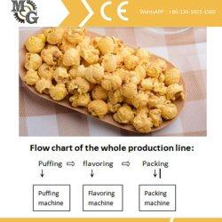 A linha de produção de milho pipoca amanteigada contínua