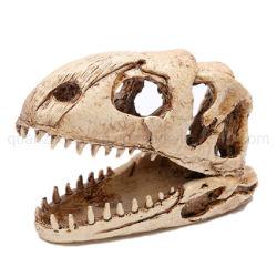 Crocodilo dinossauro OEM osso da cabeça de ovinos Aquarium ornamento de resina