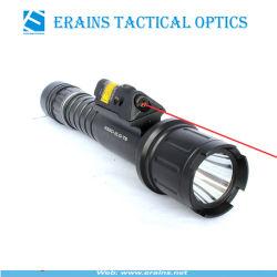 ستروب تكتيكيّ 500 تجويف صغير [كر] [ت6] [لد] برق ضوء مشعل مع بداية سريعة أحمر ليزر جهاز تسديد [كمبو]