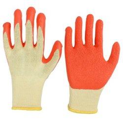 10 калибра 5, пряжа для рабочих хлопка Palm промышленной безопасности латексные перчатки с покрытием и хорошем сцеплении