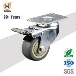 Rueda Industrial de 3 pulgadas con TPR rueda, rueda giratoria con freno o bloquear la norma ISO/SGS