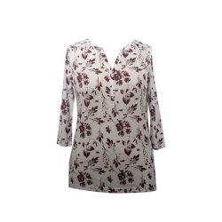 우연한 여자와 편리한 3/4벌의 소매 블라우스 셔츠 Aop 비스코스 셔츠