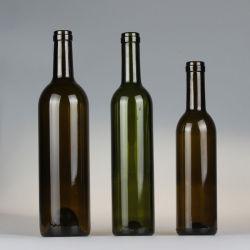 250 мл/500мл/750мл темно-зеленый или коричневый стеклянная бутылка красного вина
