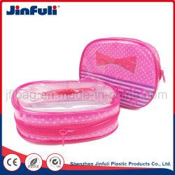 Controle deslizante de plástico transparente que viajam de toucador com embalagem à prova de água