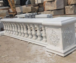 De natuurlijke Witte Marmeren Baluster van /Beige voor de Stap/het Traliewerk van de Steen