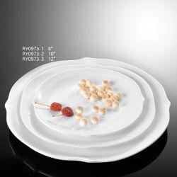 La Ronda de porcelana al por mayor de las placas de la cena para banquetes, hotel o restaurante