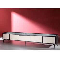 Haute qualité en bois meuble TV avec plateau en verre pour la modernisation de la salle de séjour (YA989D)
