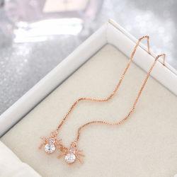 Nouveau mode en argent plaqué Dangle pendaison Gem Stone Rhinestone Long Drop Earrings Bijoux pour femmes Brincos Bijoux