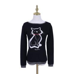 Intrasia特別なパターンが付いているPure Wool Knitted Fashion女性のプルオーバー