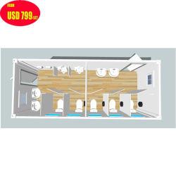 La Cina/costruzione prefabbricata cinese/ha prefabbricato la toletta di campeggio della casa della Camera della stanza da bagno del contenitore portatile mobile modulare moderno di lusso poco costoso esterno del pubblico 20FT 40FT da vendere