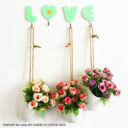 Монтаж на стене поддельные букет роз дома украшения Chlorophytum искусственных растений