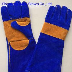 カラーによってカスタマイズされる牛革溶接の安全働く手袋