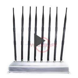 8 antennes 46 de Vervormer die van de Telefoon van de Cel van de Hoge Macht van W voor Mobiele GPS van WiFi van de Telefoon 4G Afstandsbediening de Mobiele Stoorzender van de Hakker van de Telefoon blokkeert