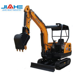 Mini Excavadora oruga Cargador de excavadora de ruedas pequeñas de la máquina excavadora hidráulica con el precio de fábrica barata