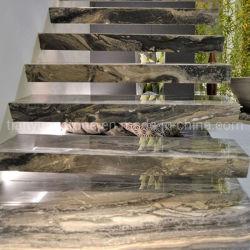لولبيّة درجة طبيعيّ حجارة قراميد بيضاء [أنتي-سليب] رخاميّة صنع وفقا لطلب الزّبون حجم رخام [ل] بيضاء شكل خطوة