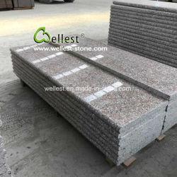 Preiswerter Granit, der Fliese/Platte/Jobstepp/Umhüllung-neuen rosafarbenen Granit-Steinbruch pflastert