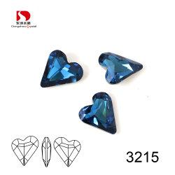 Ponto de volta Coração Crystal pedra para acessórios de jóias de fantasia