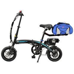 200-250W 12polegadas Balanceamento inteligente Ebike Dobrável E-bike Mini bicicleta elétrica LED DIANTEIRO E TRASEIRO E-bike