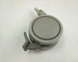 Tk-Jc0608 2,5 pouces de la plaque en alliage de zinc à plat les roulettes de meubles