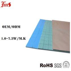 Condutividade térmica adesiva almofada de isolamento de borracha de silicone