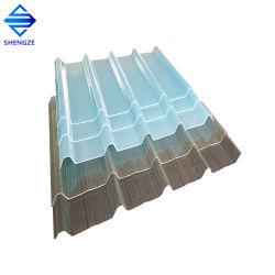 Matériau de construction de lumière naturelle en fibre de verre lucarne de toit ondulé pour effet de serre