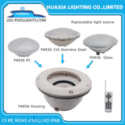 Indicatore luminoso subacqueo spesso della piscina di IP68 Glass/PC 12V RGB PAR56 LED con la radio a distanza