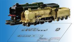 O de latón de la escala de la locomotora, plástico de la locomotora de tren, el modelo OEM ODM.