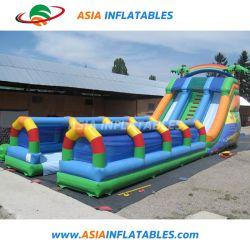 Забавные игры для детей с двумя полосами движения тропических надувные пробуксовки колес N слайд