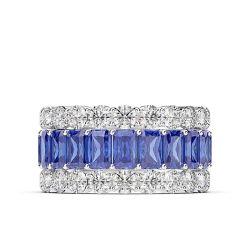 Bunter Luxuxform-Band-silberne Hochzeits-Ring