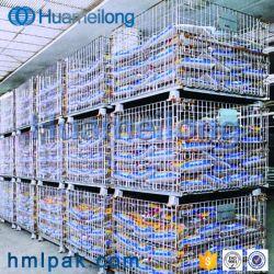 Empilhamento de grandes dimensões para Serviço Pesado Colapsável Galvanizado Cesto de malha de arame para venda