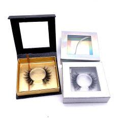 ケースを持つ3D多彩で柔らかく自然な偽の絹のまつげのLasheseの実質のミンク