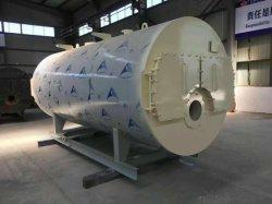 3T قطع الروبيان الضغط الجوي من النوع الأفقي يتم إطلاق الغاز الساخن غلاية مياه للتسخين المركزي