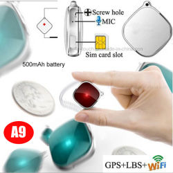 أطفال شخصيّة على شكل صغير عالي الجودة 2G عقد متعقب GPS مع تنبيهات إنذار أمان التطبيق المجانية A9