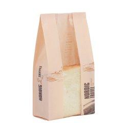 Paquete de pan tostado de la bolsa de papel Kraft