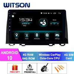 Android Witson 10 Rádio leitor de multimédia para Honda CRV 4 GB de RAM 64GB Flash grande ecrã no aluguer de DVD