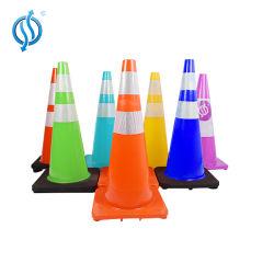 Cone do tráfego de PVC reciclado com base preta