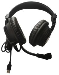 언어 랩 헤드셋 USB 헤드셋 PVC 이어패드 스테레오 믹스 헤드폰 Cm6206