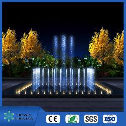 Água moderno pequeno jardim exterior Musical Fountain Conjuntos de dança com luz