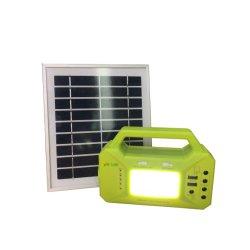 3W 6w panneau solaire solaire Kit de système d'accueil - y compris le chargeur de téléphone cellulaire - 2 Câble des voyants à LED