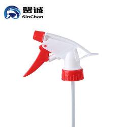 28/400 28/410 blanc et rouge un bouton de la pompe à main gâchette en plastique du pulvérisateur de déclenchement
