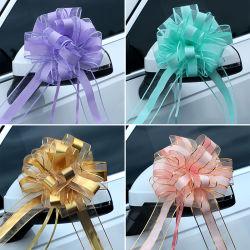 Trekboog Gemengde kleur grote Organza trekboog presenteren wikkelen Trek boog met lint voor Wedding Present Baskets