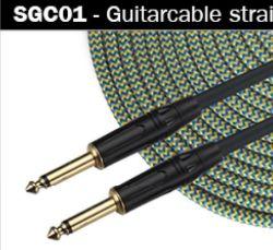 "Instrument-Kabel mit Verbinder 1/4 "" Jack."