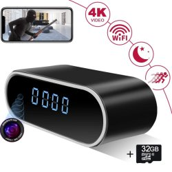 1080p Smart Camera Clock WiFi Video Recorder for Indoor Home セキュリティモニタリング CAM