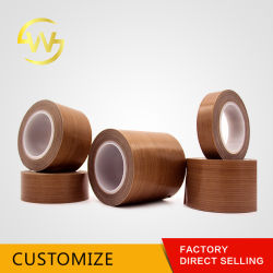 Resistente ao calor revestida de teflon fita de fibra de Teflon PTFE pano de vidro Tape
