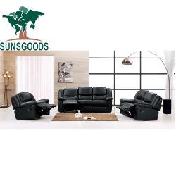 3개의 2개의 판매를 위한 1개의 소파 무대 디자인 조정가능한 가죽 소파 Recliner 의자
