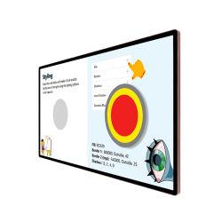 32インチ屋内LCDのタッチ画面の壁の台紙のデジタル表記