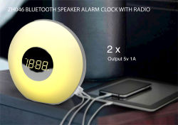 日の出の目覚し時計はデジタル目覚し時計を変更する軽いデジタル時計の多彩な居眠り機能7 LEDカラーを目覚める