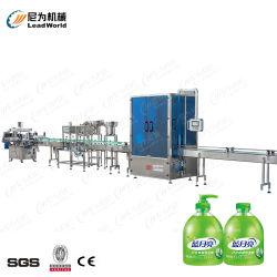 De vloeibare het Afdekken van de Zeep van het Bleken van de Shampoo van de Olie van het Desinfecterende middel van de Hand van de Vullende Machine Detergent Vloeibare Schonere Vullende Lijn van de Machine van de Verpakking van de Etikettering