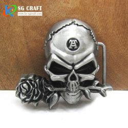 Caixa de travamento do cinto de moda personalizada vestido Fivela reversível de caixa de travamento do cinto de cranio