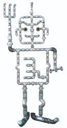 BSPT 나사산의 En10242 표준 말레블 주조 철 파이프 피팅